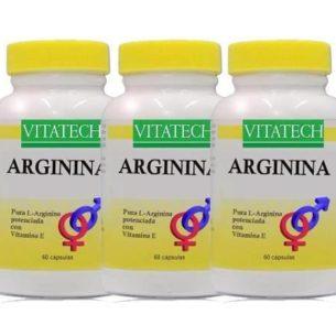 Arginina X 60 Capsulas X 3 Energia Vitalidad