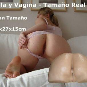 Cola Y Vagina - Tamaño Real - Masturbatoria 40x27x15cm - Flexi Flesh