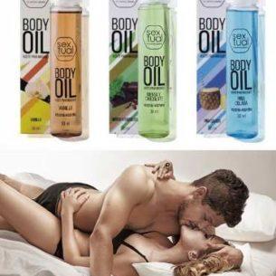 Aceite Body Oil - Efecto Calor - Masajes Parejas Saborizado
