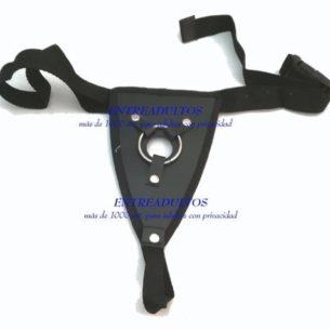 Arnes Pene Reforzado Cuero Cintura Anal Doble Peneatracion