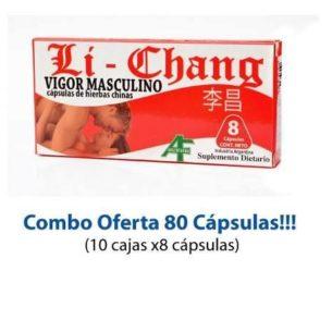 Li Chang 80 Cápsulas + Vigor + Erecciones Duras Vigor