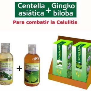 Centella Asiatica + Gingko Biloba Celulitis Piel Naranja