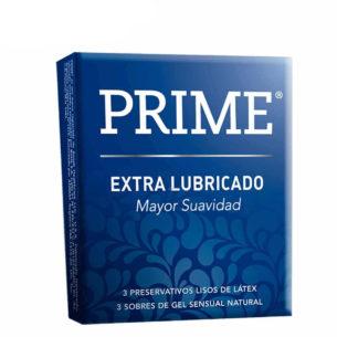 Prime Extra Lubricado - Pack x3 preservativos