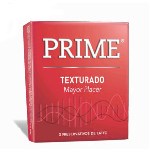 Prime Texturado - Caja x3 preservativos