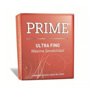 Prime Ultrafino - maxima sensibilidad- Caja x3 Preservativos